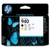 Hewlett Packard [HP] No. 940 Inkjet Printhead Black and Yellow Ref C4900A