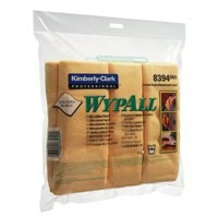 Wypall Microfibre Cleaning Cloths for Dry or Damp Multisurface Use Yellow Ref 8394 [Pack 6]