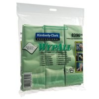 Wypall Microfibre Cleaning Cloths for Dry or Damp Multisurface Use Green Pack 6 Code 8396