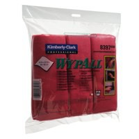 Wypall Microfibre Cleaning Cloths for Dry or Damp Multisurface Use Red Pack 6 Code 8397