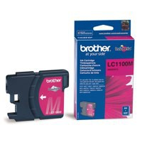 Brother Inkjet Cartridge Page Life 325pp Magenta Ref LC1100M