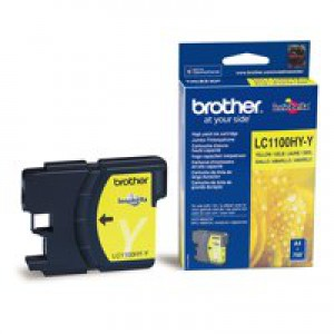 Brother High Yield Yellow Inkjet Cartridge Code LC-1100HYY
