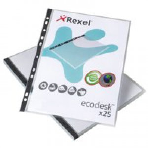 Rexel Eco-Filing Pockets Multipunched Recycled Polypropylene 120micron A4 Ref 2102242 [Pack 25]