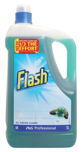 Flash All Purpose Cleaner for Washable Surfaces 5 Litres Pine Fragrance Ref VPGFLP5