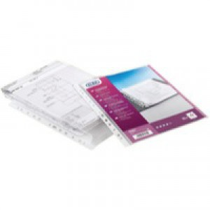 Elba Expanding Pocket Extra Capacity no Flap Multipunched Polypropylene A4 Clear Ref 100080753 [Pack 10]