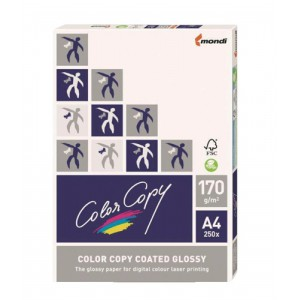 Color Copy Colour Laser Paper Coated Glossy 170gsm A4 White Ref CCG0170 [250 Sheets]