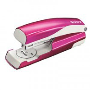 Leitz 5502 Nexxt Metal Stapler Wow Pink Metallic 30 Sheets