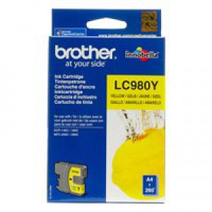Brother LC980Y Yellow Inkjet Cartridge Code LC980Y