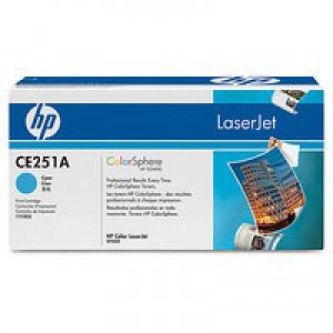 Hewlett Packard [HP] No. 504A Laser Toner Cartridge Page Life 7000pp Cyan Ref CE251A