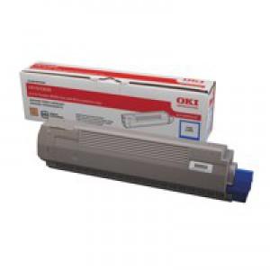 OKI Laser Toner Cartridge Page Life 8000pp Cyan Ref 44059107