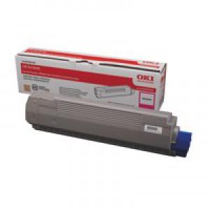OKI Laser Toner Cartridge Page Life 8000pp Magenta Ref 44059106