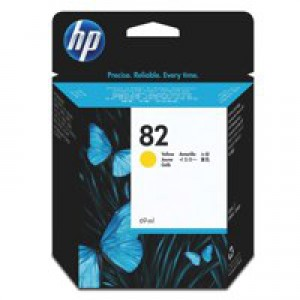 HP No.82 Inkjet Cartridge 28ml Yellow Code CH568A