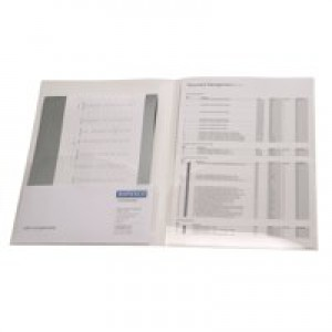 Rapesco A4 Twin ID File Clear Pack of 5 0787