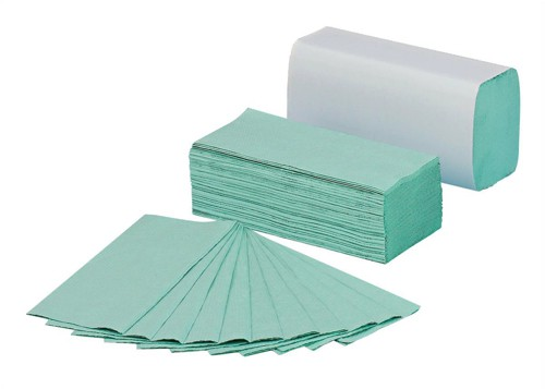 5 Star C Fold Paper Towels 144 Towels Per Sleeve Sheet Size 230x305mm Green [Pack 20]