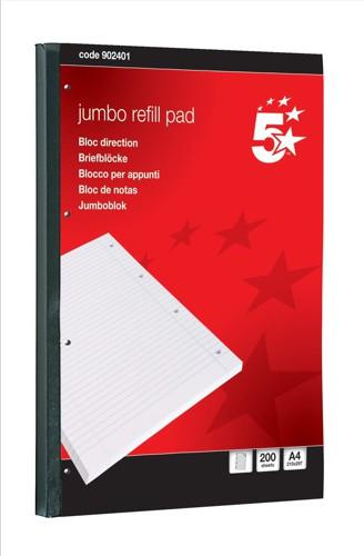 5 Star JumboPad A4Fnt/Mrgn200Sht NS02401