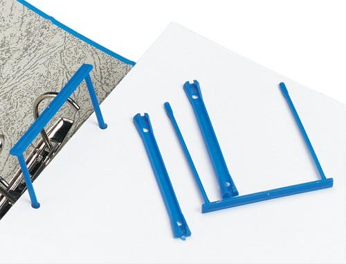 5 Star Filing Clip Polypropylene Blue [Pack 10]