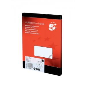 5 Star Labels Laser Copier and Inkjet 8 per Sheet 105x71mm [800 Labels]