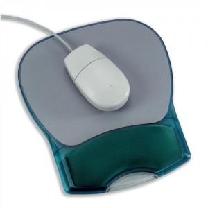 Mouse Mat Pad with Wrist Rest Gel Translucent Blue