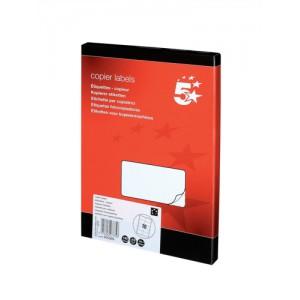 5 Star Labels Copier 10 per Sheet 105x58mm White [1000 Labels]