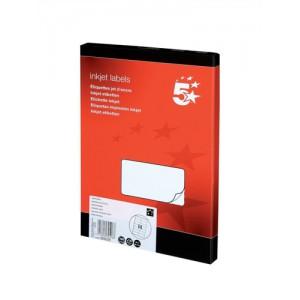 5 Star Addressing Labels Inkjet 14 per Sheet 99.1x38.1mm White [1400 Labels]