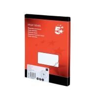 Image for 5 Star Addressing Labels Inkjet 16 per Sheet 99.1x34mm White [1600 Labels]