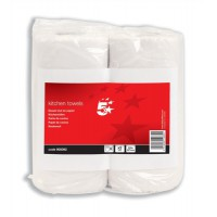 Image for 5 Star Kitchen Tissue 229x247mm Sheets 60 per Roll [Pack 2]