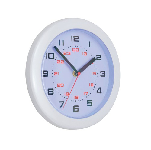 5 Star Controller Wall Clock with 24 Hour Dial 213mm Diameter White