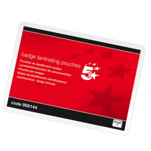5 Star Laminating Pouches 250 Micron for Badge size [67x97mm] Glossy [Pack 100]