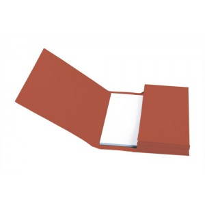 5 Star Document Wallet Full Flap 285gsm Capacity 32mm Foolscap Red [Pack 50]