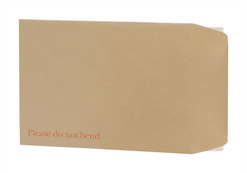 5 Star Envelopes Board-backed Peel and Seal 115gsm Manilla 241x178mm [Pack 125]