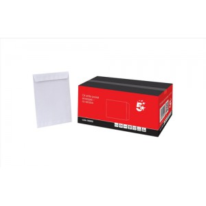 5 Star Envelopes Pocket Peel and Seal 100gsm White C4 Ref [Pack 250]