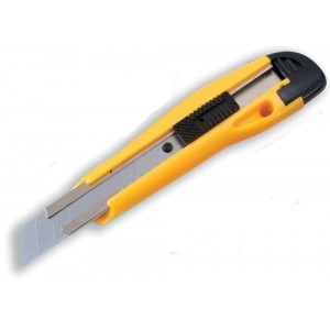 5 Star Cutting Knife Medium Duty with Locking Device and Snap-off Blades