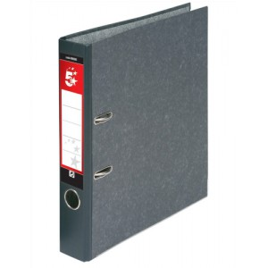 5 Star Mini Lever Arch File 50mm Spine Foolscap Cloudy Grey [Pack 10]