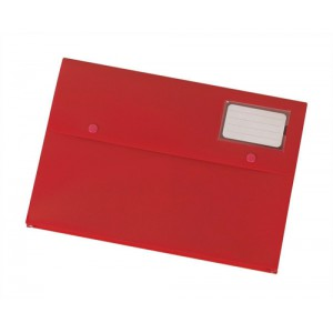 5 Star Document Wallet Polypropylene A4 Red [Pack 3]