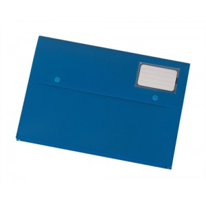 5 Star Document Wallet Polypropylene A4 Blue [Pack 3]