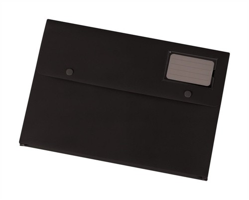 5 Star Document Wallet Polypropylene A4 Black [Pack 3]