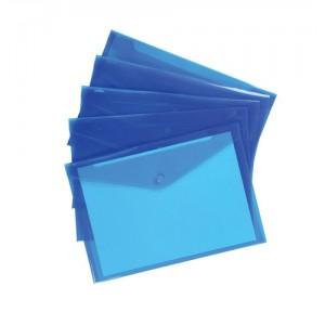 5 Star Envelope Wallet Polypropylene A4 Translucent Blue [Pack 5]