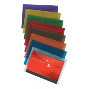 5 Star Envelope Wallet Polypropylene A4 Translucent Assorted [Pack 25]