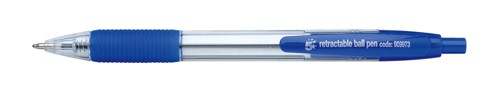 5 Star Ball Pen Retractable Medium 1.0mm Tip 0.4mm Line Blue [Pack 10]