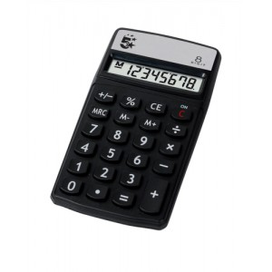 5 Star Calculator Handheld 8 Digit 3 Key Memory Battery-power W56xD100xH8mm Ref HH8D