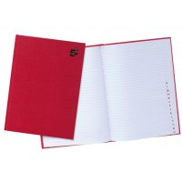 Image for 5 Star Manuscript Book Casebound 70gsm Ruled and Indexed 192 Pages A4