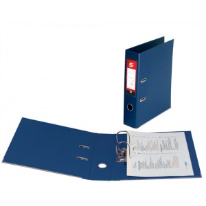 5 Star Lever Arch File PVC Spine 70mm Foolscap Blue [Pack 10]
