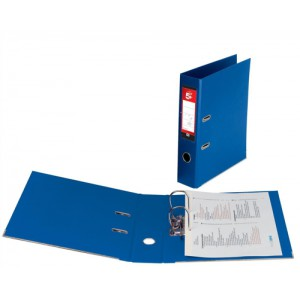 5 Star Lever Arch File PVC Spine 70mm Foolscap Royal Blue [Pack 10]