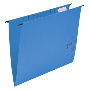 5 Star Suspension Files Manilla Wrapover Bar Tabs and Inserts Foolscap Blue Ref 100331409 [Pack 50]
