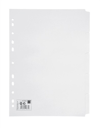 5 Star Subject Dividers Multipunched Manilla Card 5-Part A4 White