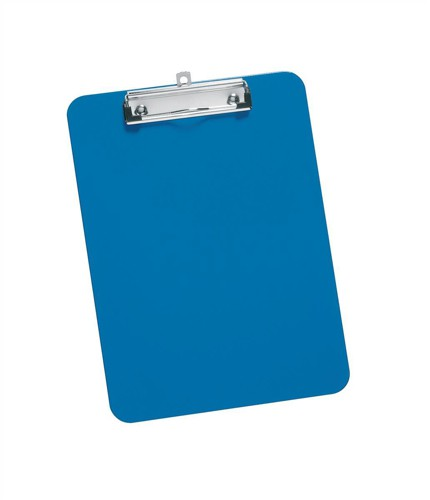 5 Star Clipboard Plastic Durable with Rounded Corners A4 Blue