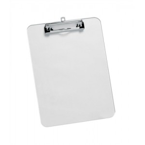 5 Star Clipboard Solid Plastic Durable with Rounded Corners A4 Clear