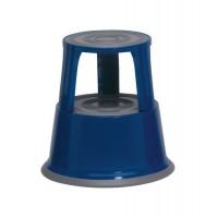 Image for 5 Star Step Stool Mobile Spring-loaded Castors up to 150kg Top D290xH430xBase D435mm 5kg Blue