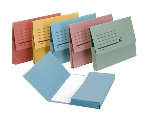 5 Star Document Wallet Half Flap 285gsm Capacity 32mm A4 Assorted [Pack 50]
