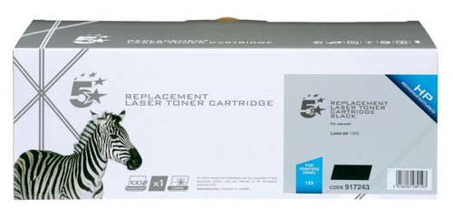 5 Star Compatible Laser Toner Cartridge Page Life 4000pp Black [HP No. 13X Q2613X Alternative]